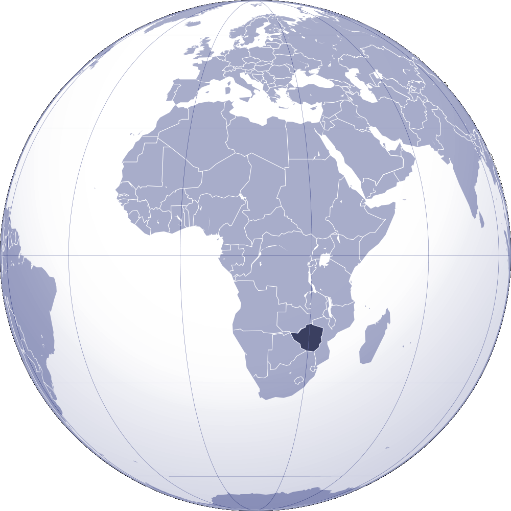 Where Is Zimbabwe Located large map