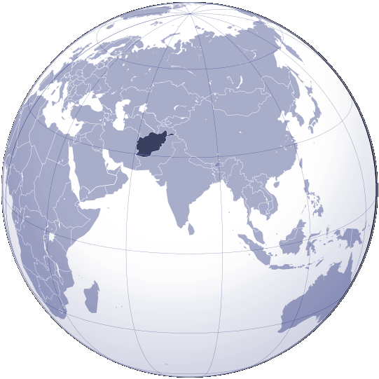 The India On a World Globe Map
