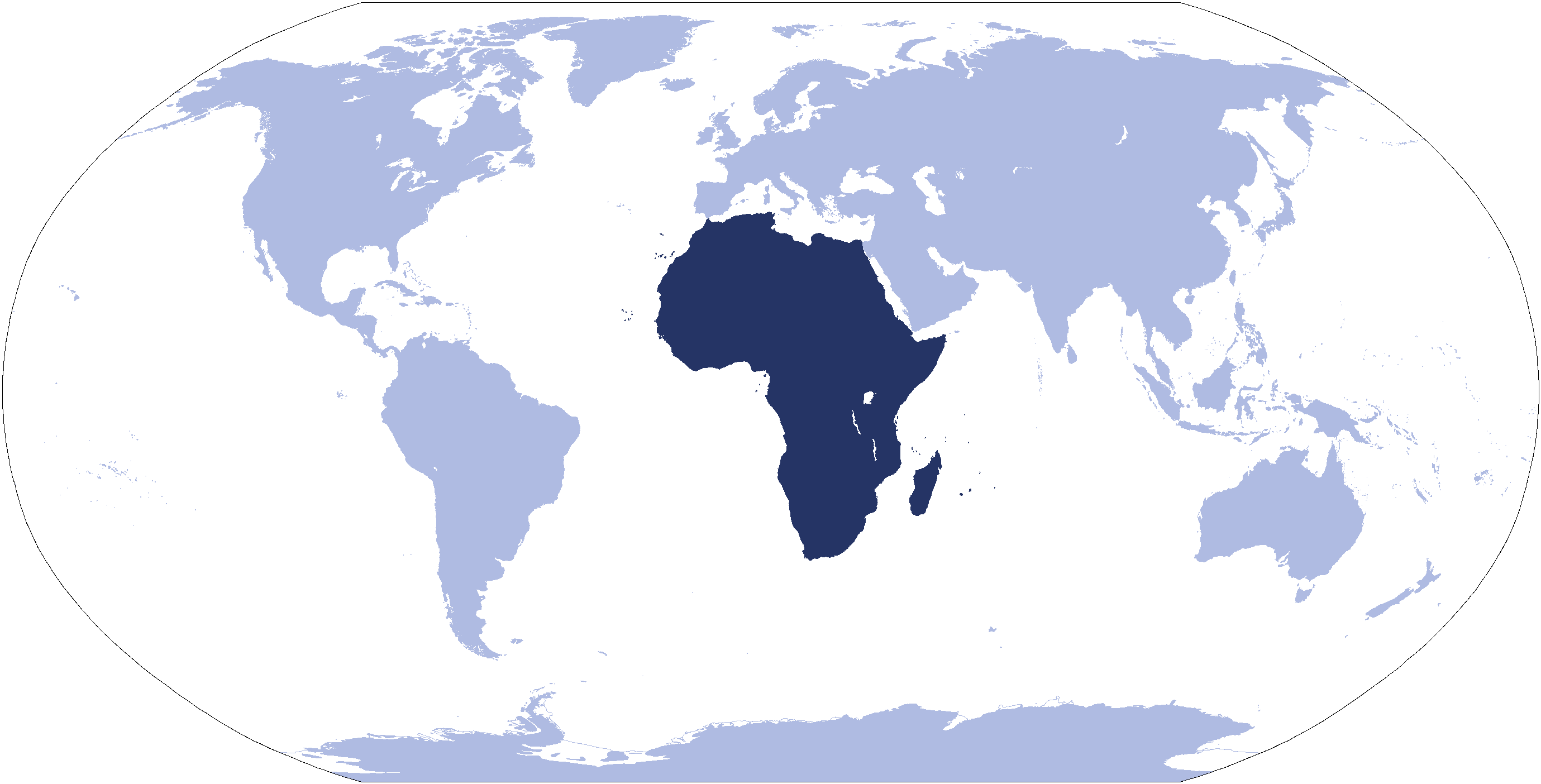 Where Is Africa Located large map