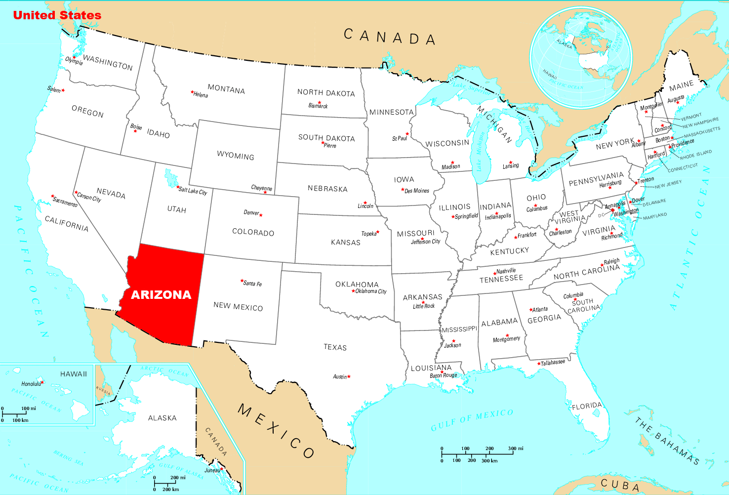 Where Is Arizona Located
