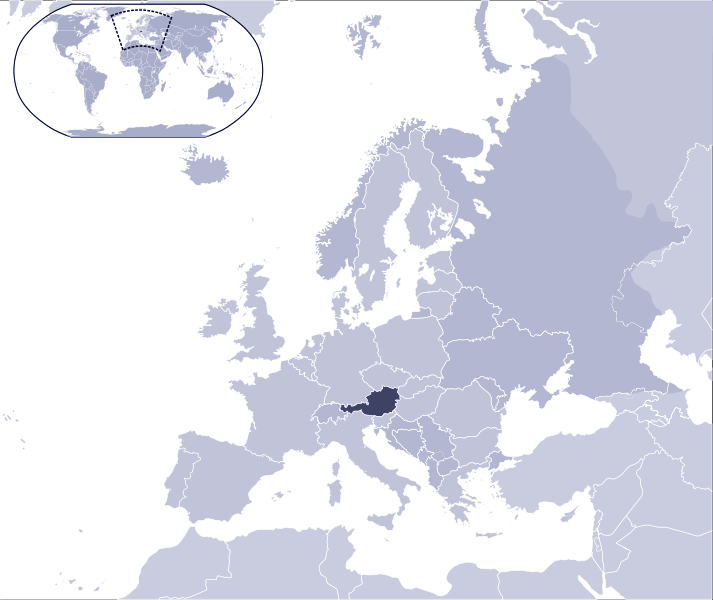 Where Is Austria Located large map
