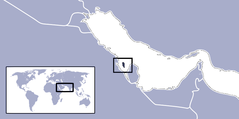 Where Is Bahrain Located large map