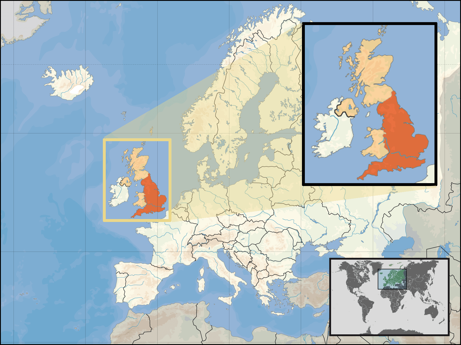 Where Is England Located • Mapsof.net