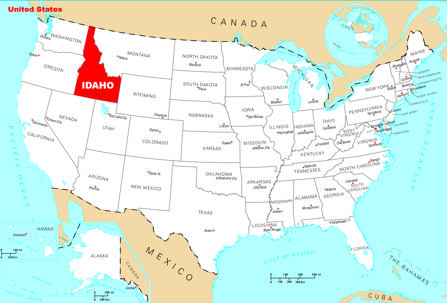 Where Is Idaho Located Mapsof Net