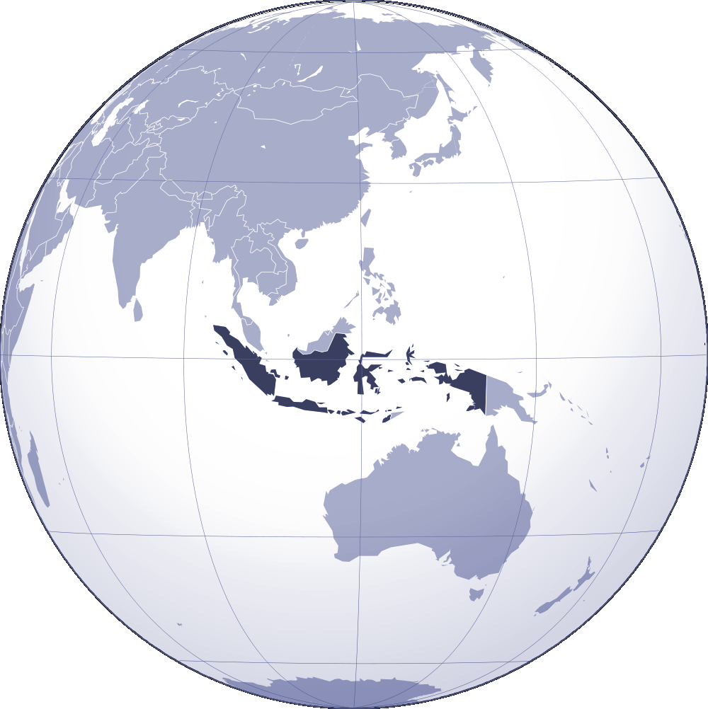 Where Is Indonesia Located large map
