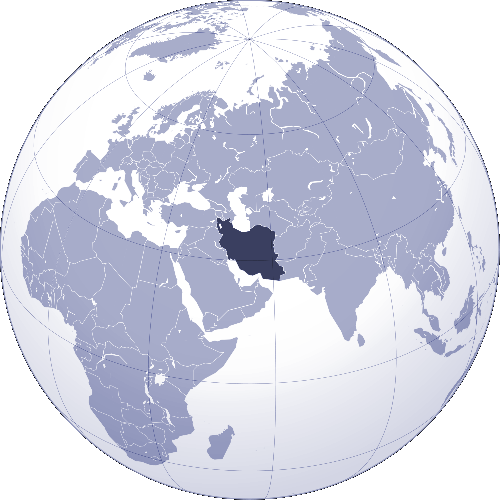 Where Is Iran Located large map