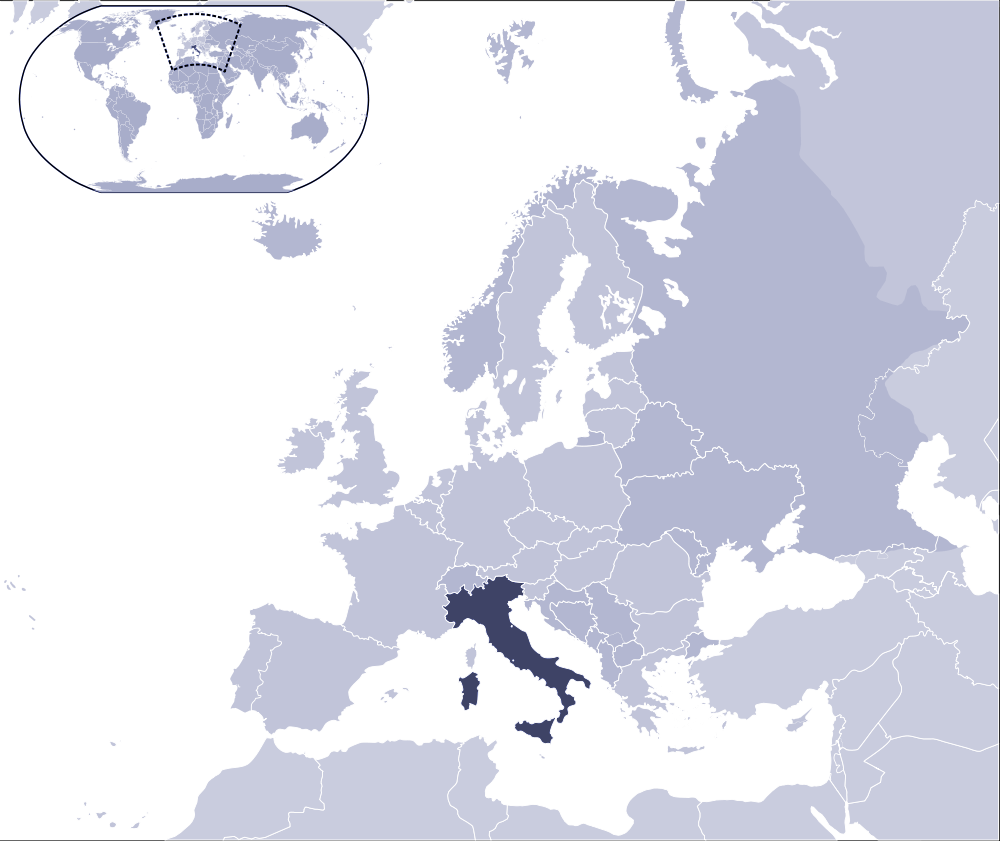 Where Is Italy Located large map
