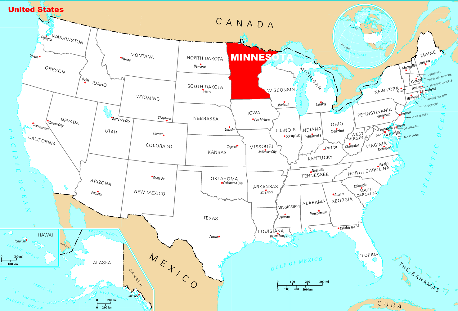 Where Is Minnesota Located • Mapsof.net
