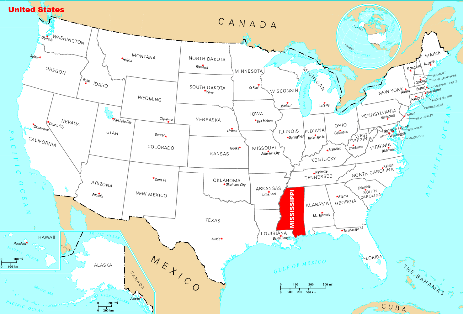 Where Is Mississippi Located Mapsofnet - Mississippi map usa