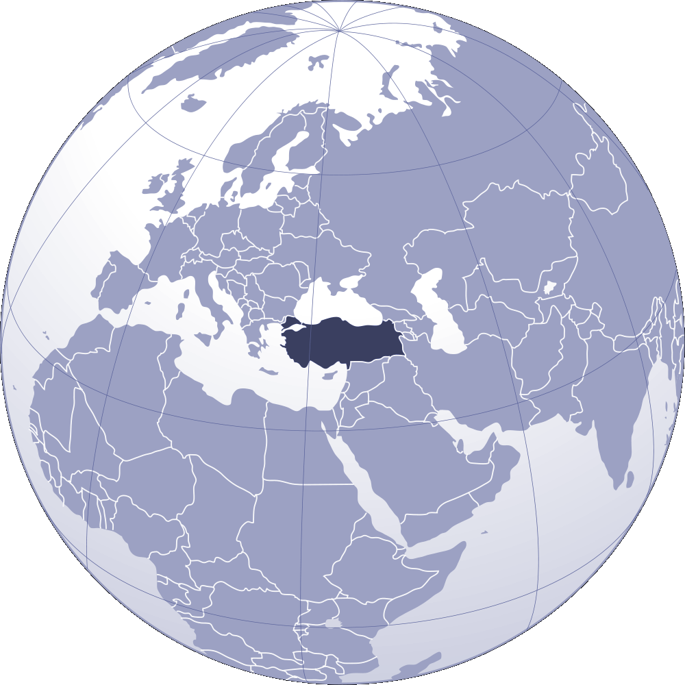 Where Is Turkey Located large map