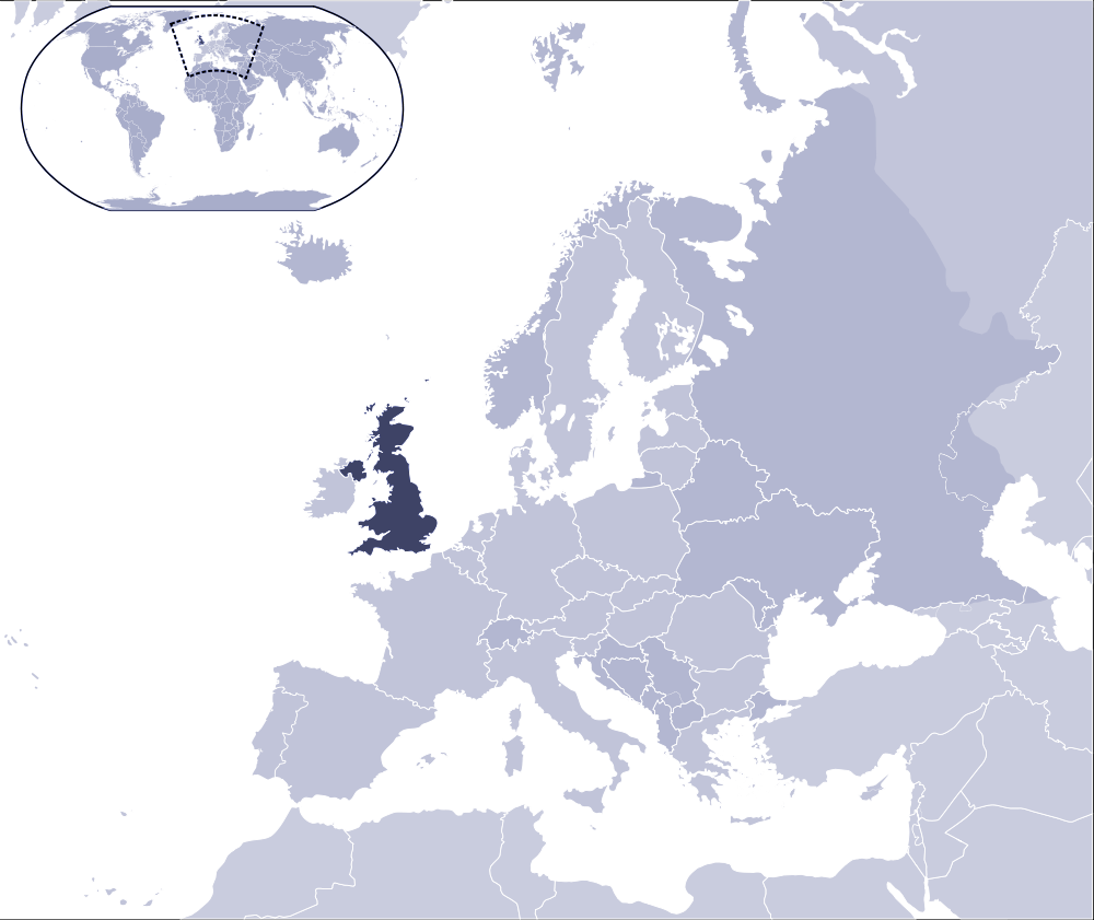 Where Is United Kingdom Located large map
