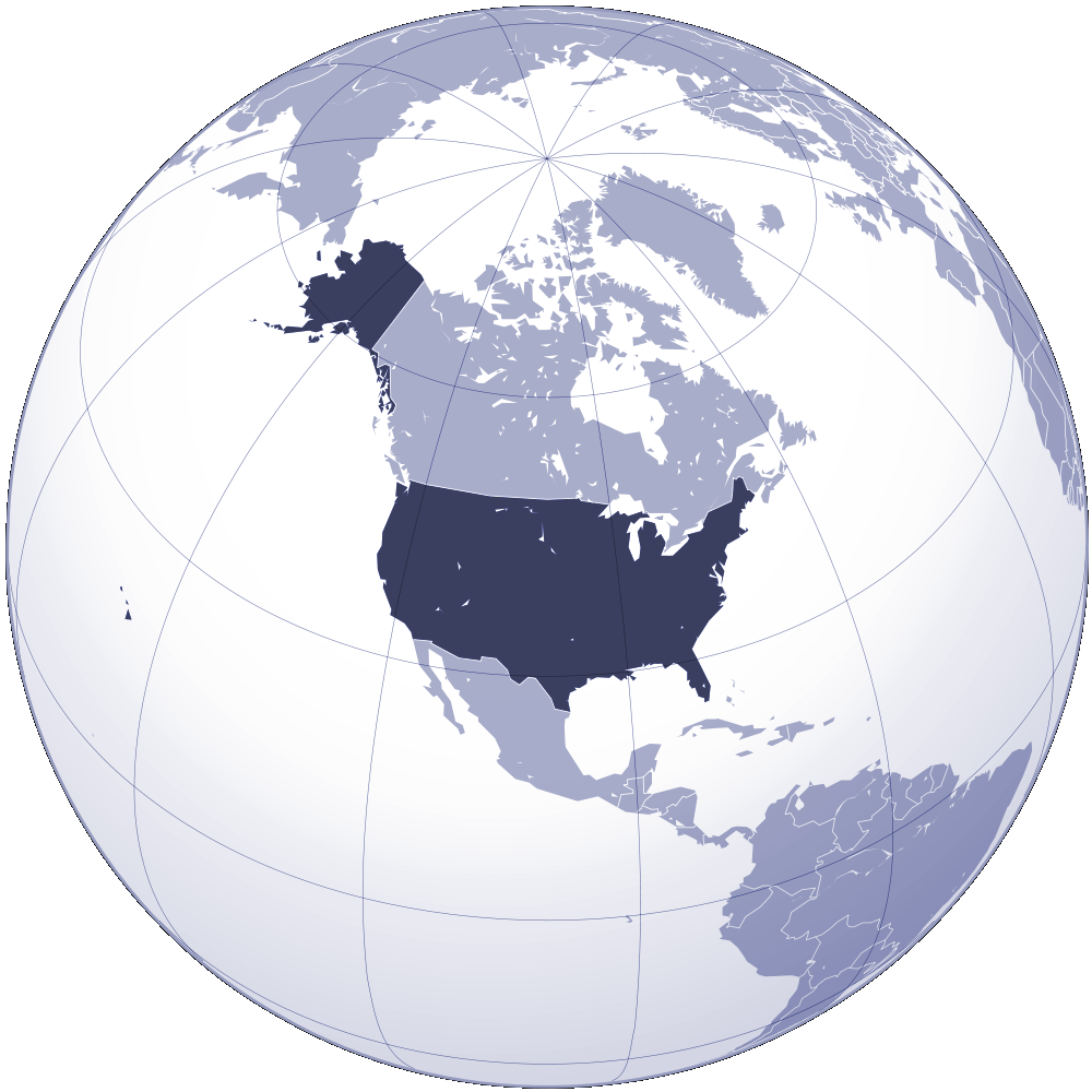 Where Is United States Located large map