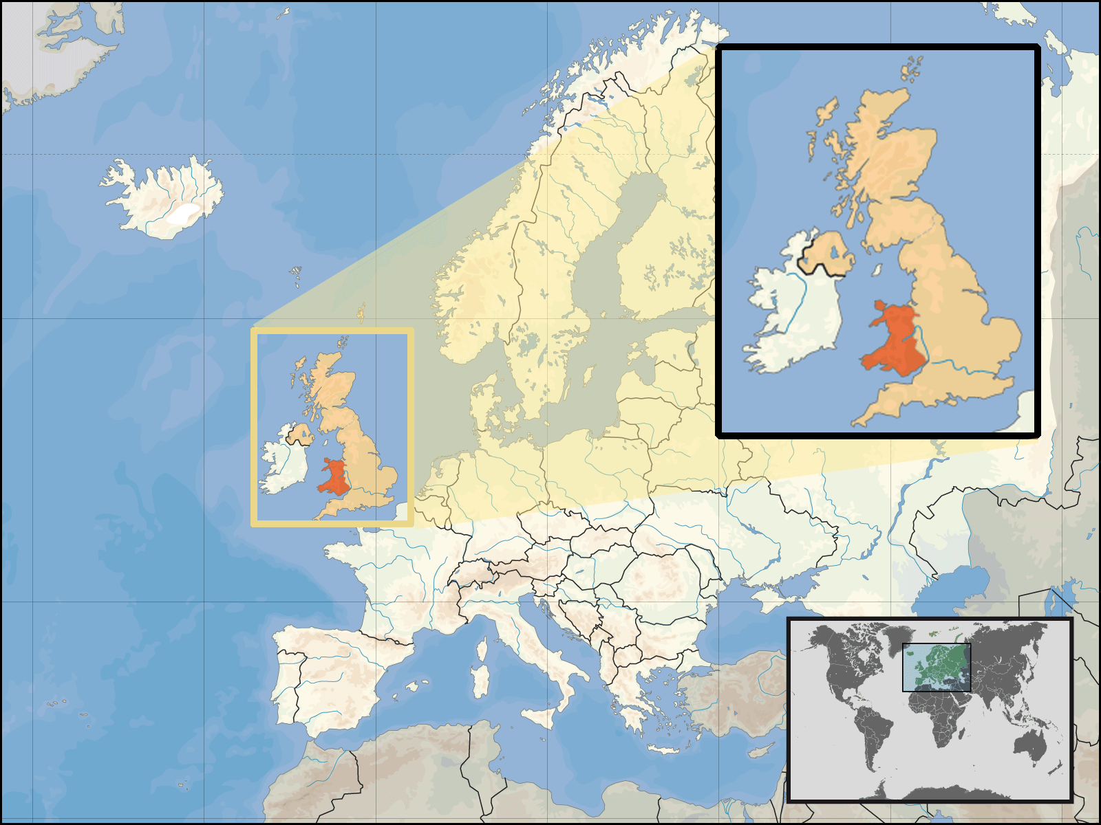 Where Is Wales Located • Mapsof.net