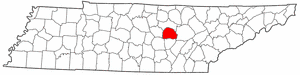 White County Tennessee large map