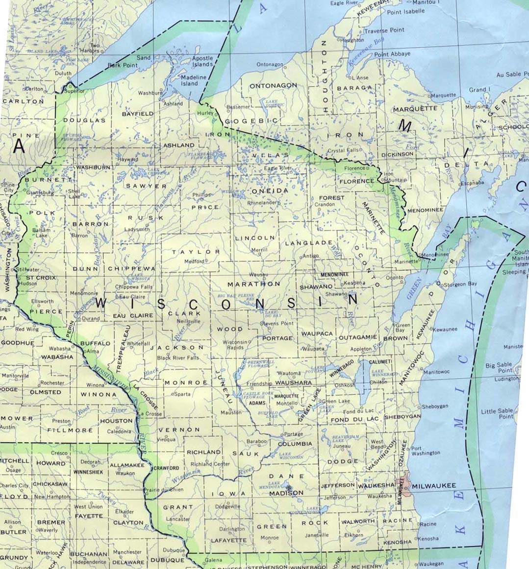 Wisconsin 90 large map