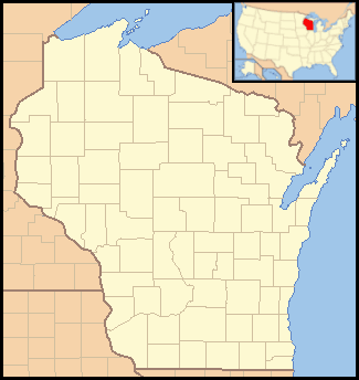 Wisconsin Locator Map With Us Mapsofnet - Wisconsin-on-map-of-us