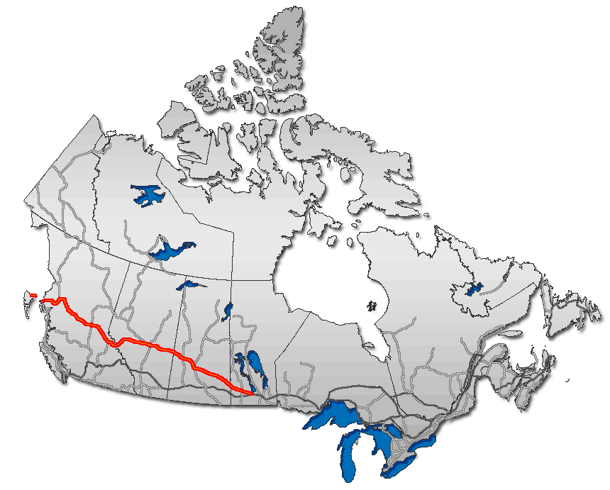 Yellowhead Route large map
