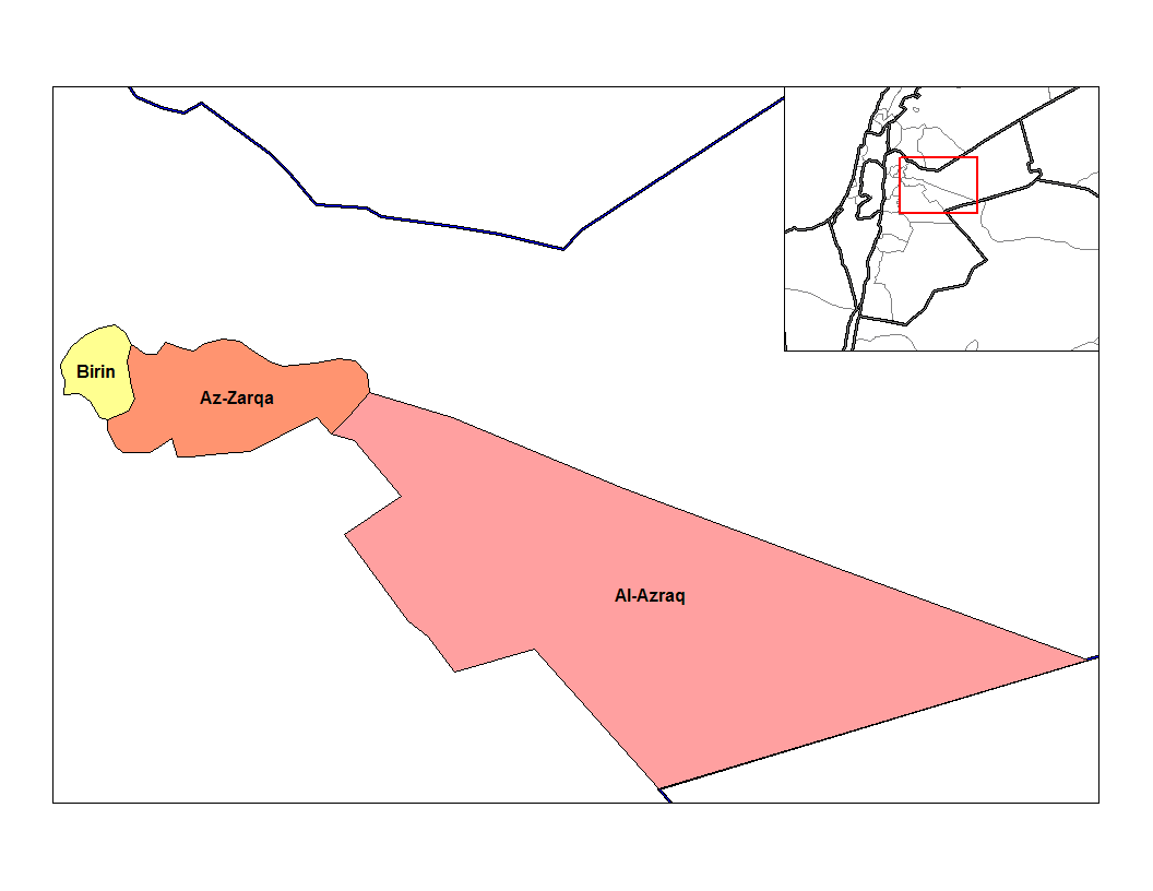 Zarqa Nahias large map