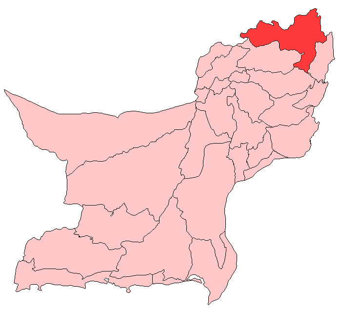 Zhob District large map