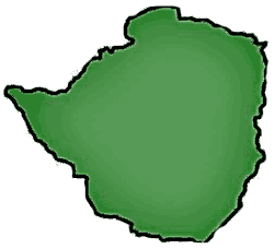 Zimbabwe Blank large map