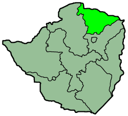 Zimbabwe Province Mashonaland Central large map