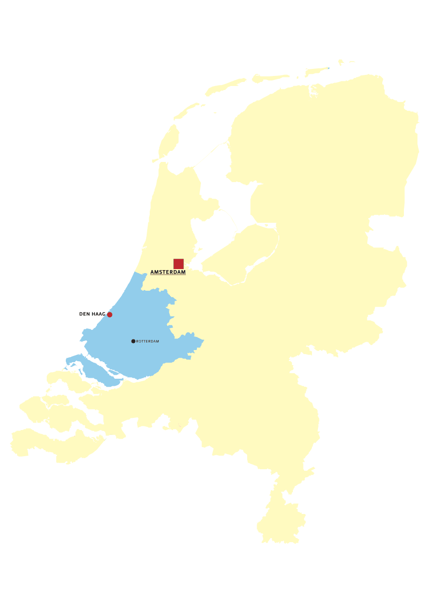 Zuid Holland large map