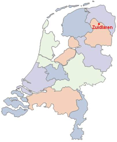Zuidlaren On the Map of the Netherlands 2 large map