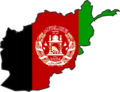 Afghanistan Flag Map - Mapsof.Net Map