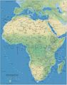 Africa Physical Map 1 - Mapsof.Net Map