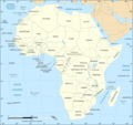 African Continent Countries Map - Mapsof.Net Map