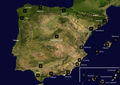 Airports Spain Satellite Map - Mapsof.net