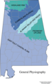 Alabama General Physiography - Mapsof.Net Map