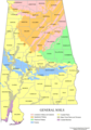 Alabama Map Soils - Mapsof.Net Map