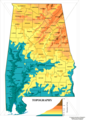 Alabama Topographic Map - Mapsof.Net Map
