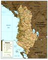 Albania Shading Relif Map - Mapsof.Net Map