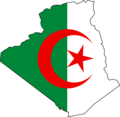 Algeria Flag Map - Mapsof.Net Map