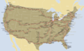 Amtrak Route Map - Mapsof.Net Map