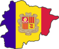 Andorra Flag Map - Mapsof.Net Map