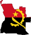 Angola Flag Map - Mapsof.net