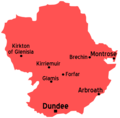 Angus Scotland Map - Mapsof.net