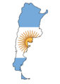 Argentina Flag Map - Mapsof.Net Map
