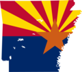 Arizona Flag Map - Mapsof.Net Map