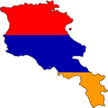Armenia Flag Map - Mapsof.Net Map