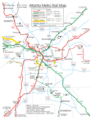 Atlanta Subway Map (metro) - Mapsof.Net Map