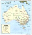 Australia Political Map 1999 - Mapsof.Net Map