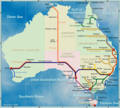 Australia Railway Map - Mapsof.Net Map