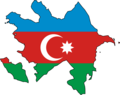 Azerbaijan Flag Map - Mapsof.Net Map