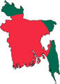 Bangladesh Flag Map - Mapsof.Net Map