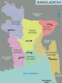 Bangladesh Regions Map - Mapsof.Net Map