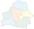 Belarus Provinces Blank Color - Mapsof.Net Map